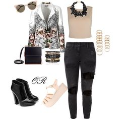 Untitled #132 by q-griffin on Polyvore featuring polyvore fashion style Alice + Olivia Faith Connexion Giuseppe Zanotti Samantha Wills Kenneth Jay Lane Forever 21 Fendi