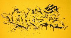 SALE Namaste-Yoga Mat- Yellow Graffiti. via Etsy.