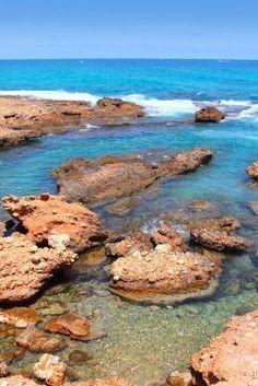 Rotas las azul mar Mediterráneo Costa Denia Alicante España