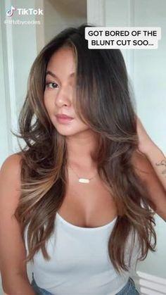 Haircuts Straight Hair, Long Hair Cuts, Layered Haircuts, Haircut For Medium Length Hair, Haircuts For Long Hair Straight, Haircut Long, Brown Hair Balayage, Hair Highlights, Balayage On Straight Hair