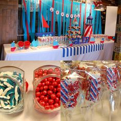 Caleb's Nautical Dessert Table by Yummy Piece of Cake, via Flickr