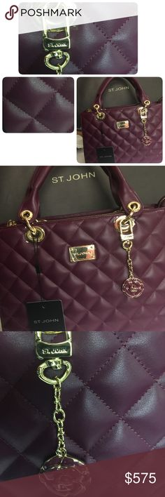 Selling this St. John Collection Quilted Leather Chain Tote on Poshmark! My username is: halamalu. #shopmycloset #poshmark #fashion #shopping #style #forsale #St. John #Handbags