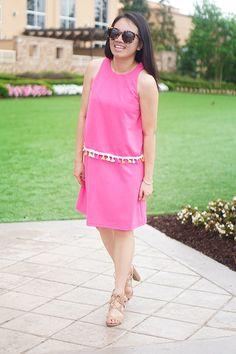 SHEIN PINK TASSLE DRESS