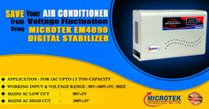 Are you looking for a savor for your air conditioner? Bring home today #Microtek EM4090 digital voltage stabilizer, a shield of air conditioners.