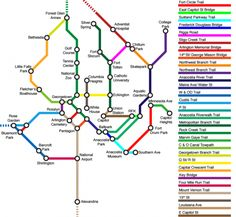 See a subway map… of bike lanes and trails in our region – Greater Greater Washington