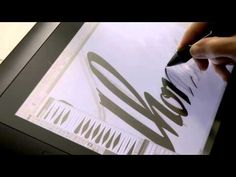 A tutorial by Laura Coyle about drawing lettering with a Wacom Tablet in Adobe… Wedding Calligraphy, Caligraphy, Brush Lettering, Hand Lettering, Art Tablet, Wacom Intuos, Lettering Tutorial, Typography Letters, Art Tips