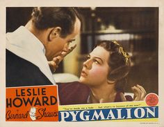 Poster - Pygmalion premiered at the Venice Film Festival in Aug 1938, in England in Oct 1938, and Mar 1939 in the USA