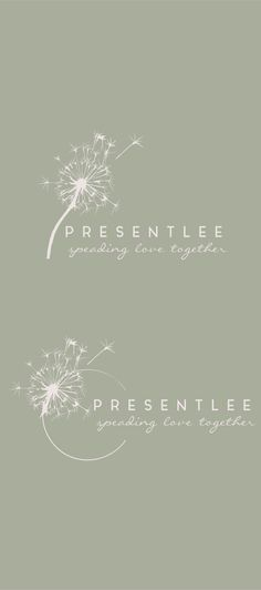 Dandelion Logo// Event Planing Logo// Nature by MillyBoutique