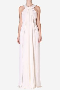Long Dresses & Jumpsuits - Pearl Georgette Cleopatra Gown