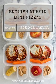 School Lunch Day 66: English Muffin Pizzas