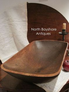 Antique 1700s Colonial Folk Art Hand Hewn Trencher Wooden Dough Bowl AAFA #NaivePrimitive Sold