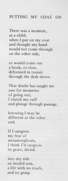 Ted Kooser Poem.
