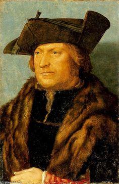 'porträt von einem mann 3', öl von Albrecht Durer (1471-1528, Germany)