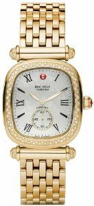 Michele Caber Isle Mother of Pearl Dial Gold Plated Stainless Steel Ladies Watch