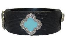 Black MX Designer Resin Bangle Bracelet