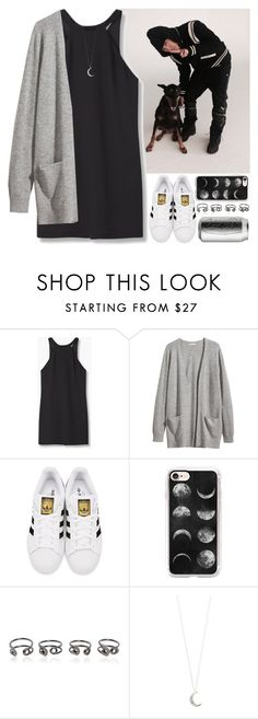 """""""At the photo shoot Dok2 (Illionaire)"""" by evil-maknae ❤ liked on Polyvore featuring MANGO, H&M, adidas Originals, Casetify, Maison Margiela and Accessorize"""