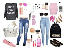 College days! by mariel-rubio on Polyvore featuring moda, Wildfox, H&M, TOMS, Accessorize, Moschino, MICHAEL Michael Kors, Kate Spade, Anita Ko and Anne Klein