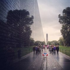 Reflections at the beautiful Vietnam Veterans Memorial in Washington DC.