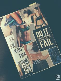 My fitness journal #fitness #healthy #journal #diy #book