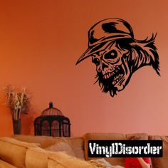 Skull Wall Decal - Vinyl Decal - Car Decal - DC 8149