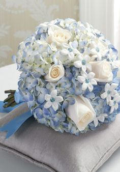 Wedding Flowers Ideas Lovely Blue Wedding Flowers Matched With With Regard To Baby Blue And White Wedding Decorations - Best Inspiration Hydrangea Bouquet Wedding, Bridal Bouquet Blue, Blue Wedding Flowers, Diy Wedding Bouquet, Bridal Flowers, Blue Bridal, Wedding Blue, White Bridal, Wedding Bouquets