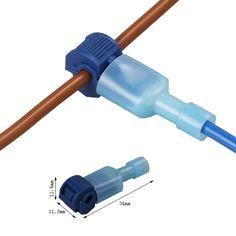 10PCS/LOT Scotch Lock Electrical Cable Connectors Quick Splice Lock Wire Convenient Terminals Crimp Blue  For 1.5-2.5mm Line