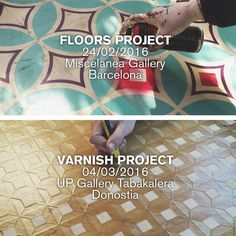 Next steps with this two projects!  - 24/02 FLOORS @miscelaneabcn #Barcelona - 04/03 VARNISH @arteuparte #Tabakalera #Donostia  #pattern #art #geometric #design #wood #layers #restoration #restauracion #madera #barniz #varnish #patron #geometria  #pattern #tile #tiles #tileaddiction #tilepattern #geometric #art #streetart  #design #abandoned #floors #floor #suelo #piso #pintura #paint by javierderiba