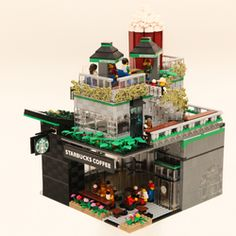 Hello All, This Starbucks Cafe is built on a 32x32plates, which come with 3 floors design (including the roof top). It's design is able to fit in Modular series (at corner) very well. This design had break through from the ordinary modular's series design, with it's specially architecture design, it gives the viewer a futuristic feeling and at the same time it remain the details which an ordinary Starbucks Cafe will has. With this specially architecture design, this modular can be well…