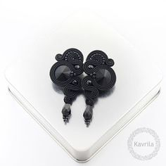 Kavrila - biżuteria autorska . sutasz . soutache: Lady black soutache