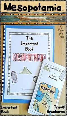 "This resource includes 2 Mesopotamia activites: A Sumer, Mesopotamia Travel Brochure & ""Important Book"" template perfect for any 6th grade teacher looking to make social studies a bit more hands on and creative! Sixth grade ancient civilizations activities. https://www.teacherspayteachers.com/Product/Mesopotamia-Ancient-Civilizations-Travel-Brochure-Important-Book-6th-Grade-2826518"