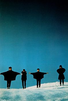The Beatles in Obertauern, Austria, during the filming of Help. Photo by Robert Freeman.