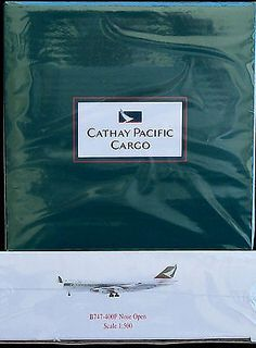 Cathay Pacific Airlines Cargo Boeing  B747 400F Nose Open 1:500 Airplane Model