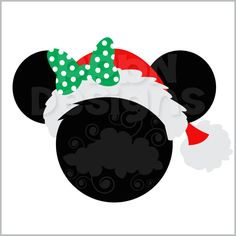 Santa Girl Mouse Ears Off For Members Find This Pin And More On Template