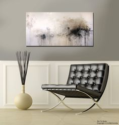 Textured Gold, Black, Gray,White Contemporary Abstract Painting. $428.00, via Etsy.