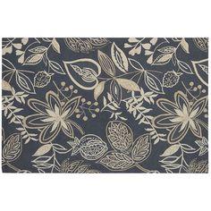Nourison Fantasy Floral Rug, Grey