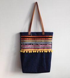 Bohemian style denim shopper - Dvoot