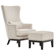 34. SIGNAL HILLS Capella Highback Wing Lounge Chair with Footstool, 10% trade discount