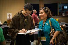 Fr. Miguel and and EWTN Viewer at the 2014 EWTN Family Celebration Our Life, Celebration, Religion, Father, Fashion, Catholic, Pai, Moda, Fashion Styles