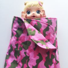 Pink Camouflage Flannel Receiving Blanket 👶🏼💞