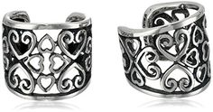 Sterling Silver Oxidized Celtic Heart Knot Cuff Earring Jackets >>> Want additional info? Click on the affiliate link Amazon.com on image.