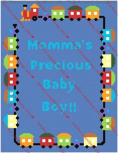 Train Border with Momma's Precious Boy by KarlasCreationsGraph