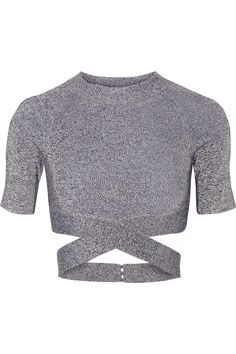 T BY ALEXANDER WANG Cropped Stretch-Knit Top. #tbyalexanderwang #cloth #top