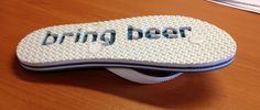 Bring beer flip flops ,  computer cutter sole,  can be manufactured from only 5 pairs !! #bringbeerflipflops #bringbeer #flipflops #weddingfavor #weddingflipflops #diyflipflops
