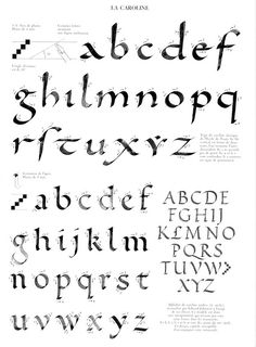 A great visual resource for broad pen calligraphers