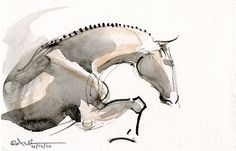 In my never ending quest for the perfect horse tattoo, I find myself coming back to these simple line drawings. Watercolor Horse, Watercolor Animals, Watercolor Paintings, Tattoo Watercolor, Watercolor Sketch, Horse Drawings, Art Drawings, Arte Equina, Simple Line Drawings