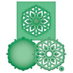 Karten-Kunst - Stempel- und Scrapbook-Shop - Spellbinders D-Lites Stanz-Schablonen - Medallion Eight