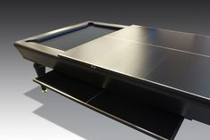 1 Bespoke pool table with table tennis top for a private client. Game Tables, Pool Tables, Table Games, Luxury Interior Design, Interior Design Inspiration, Ping Pong Room, Media Rooms, Modern Pools, Game Rooms