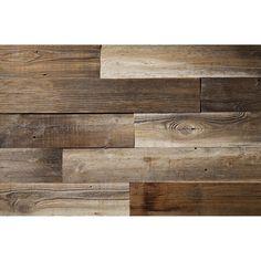 "Poppa's Barn 52"" x 4.87"" Reclaimed Solid Wood Wall Paneling | Wayfair Grey Wood, Brown Wood, Black Wood, White Wood, 3d Wall Panels, Wood Panel Walls, Wood Paneling, Wall Panelling, Wood Planks For Walls"