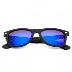 CHB Men's Women's Classic HD Mirrored Wayfarer Lens Metal Frame Street Fashion Designer Polarized Sunglasses UV400 with Case