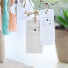 ✧ Purpose Jewelry | #Handmade with ♥ by Reeta. Every tag is hand-signed by the young woman who created it.